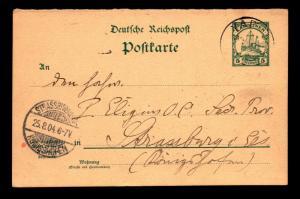 German Caroline Islands 1904 Postal Card / Yop to Germany - Z13990