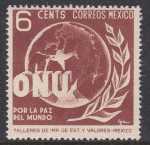 Mexico #814 single F-VF Mint NH ** United Nations