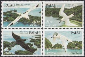 Palau 1984 MNH Sc C4a Block of 4 40c Birds