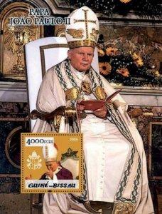 Guinea-Bissau MNH S/S Pope John Paul II Gold Foil 2005