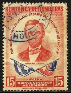 Honduras Air Mail 1959 Scott# C295 Used (toning)