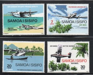 Samoa Sc C3-6 1970 Airplanes airmailstamp set mint NH