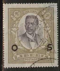LIBERIA Scott o145 Used 1923 Official stamp