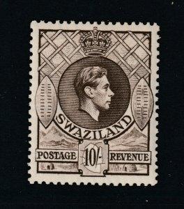 Swaziland a MNH KGVI 10/- perf 13.5 x 13