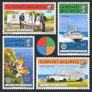 Guernsey 153-156,MNH.Michel 153-156. St Jones Ambulance Association,1977.