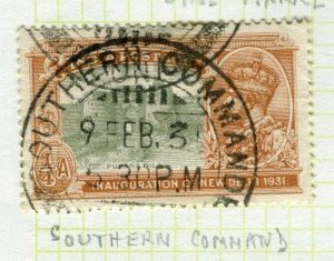 INDIA; POSTMARK fine used cancel on GV issue, Southern Command