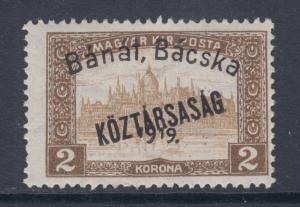 Hungary Sc 10N36 MLH. 1919 2k Parliament w/ 2 ovpts