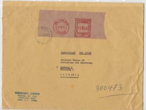 peru lima large commercial  machine cancel stamps cover ref r16018