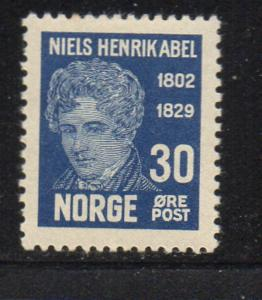 Norway Sc 148 1929 30 ore Niels Abel stamp mint