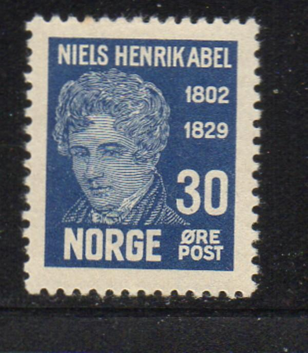 Norway Sc 148 1929 30 ore Niels Abel stamp mint