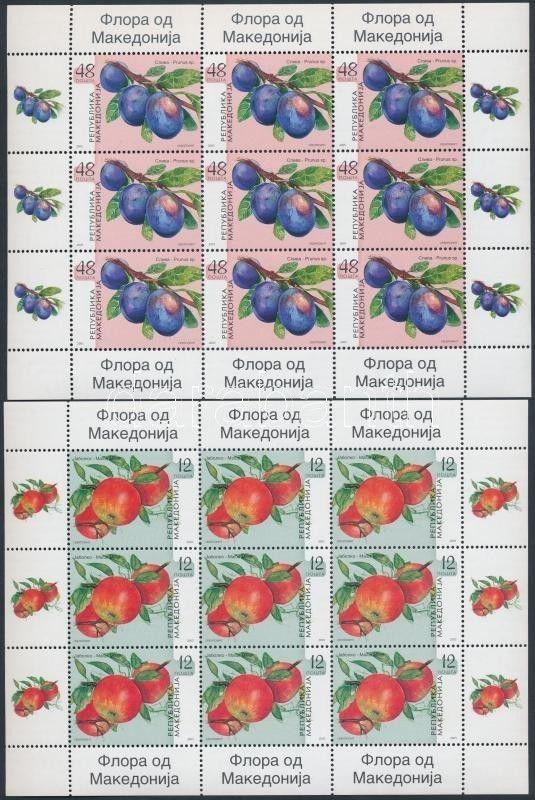 Makedonien stamp Fruit mini sheet set MNH 2005 Mi 360-363 WS190518