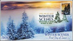 20-240, 2020, Winter Scenes, FDC, Digital Color Postmark, Sunset