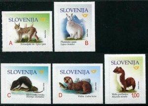 HERRICKSTAMP NEW ISSUES SLOVENIA Sc.# 1285-89 Endangered Animals Self-Adh.