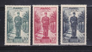 French Morocco 264-266 Set MH Statue Of General Jacques Leclerc