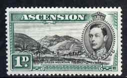 Ascension 1938-53 KG6 definitive 1d (green Mountain) mtd ...