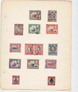 kenya uganda tanganyika stamps values to 2 shillings ref r8641