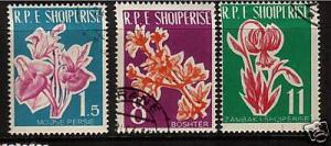 ALBANIA 1961 FLOWERS   SET 3  FU