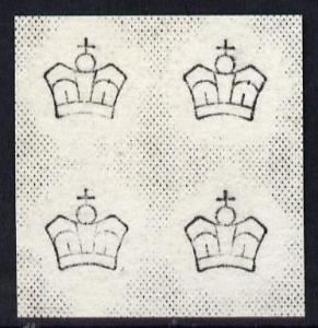 Great Britain 1880 Imperial Crown Watermark proof from Da...