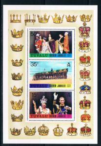 Tuvalu SC45A Souv.Sht. 25th Anniv. Reign of Qiueen Elizabeth II MNH 1977