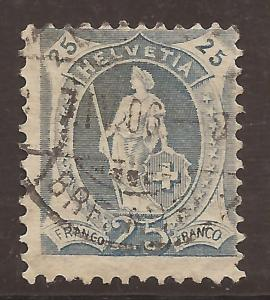 Switzerland  #  112 a   used