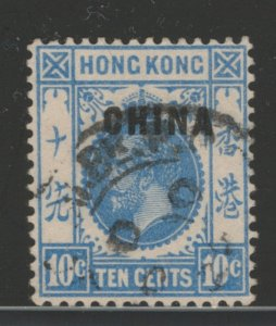Great Britain Offices China 1917 Overprint 10c Scott # 6 Used