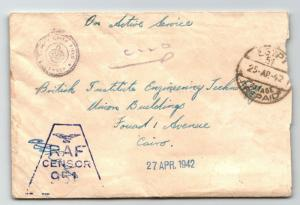 GB 1942 RAF 951 Censor Cover / Egypt Base / Dep. Chief Censor - Z13608