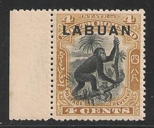 Labuan #96 (SG #112) VF MNH - 1900 4c Monkey