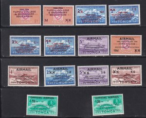 Tonga # 146-151, C16-21, CO9-10, Surcharges, NH, 1/2 Cat.