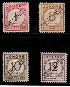 Malaya-Johore Scott J1,J3-5 Mint hinged specimens (Catalog Value $225.00)