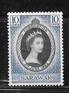 Sarawak #196   10c  (MLH )  CV $2.00