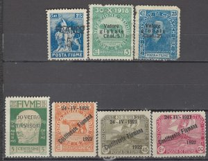 COLLECTION LOT OF #1127 FIUME 7 STAMPS 1919+ CV+$27