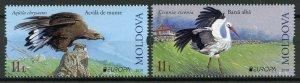 Moldova 2019 MNH Birds Europa Storks Golden Eagles 2v Set Birds on Stamps