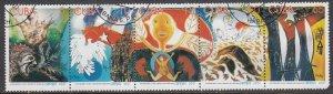 Cuba, Sc 4174a-e, CTO-H, 2001, 25th Anniv. Cuban Airlines