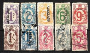 NEW ZEALAND 1925  RAILWAY  CHARGES PART SET 10  FU