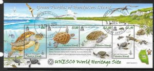 PITCAIRN ISLANDS SGMS775 2008 GREEN TURTLES FINE USED