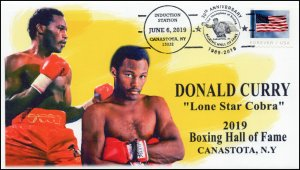 19-218, 2019, Boxing Hall Of Fame, Pictorial Postmark, Event Cover, Donald Curry