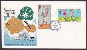 NEW HEBRIDES (French) 1971 Pacific Games - Football commem FDC..........36484
