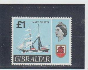 Gibraltar  Scott#  199  MNH  (1967 Mary Celeste)