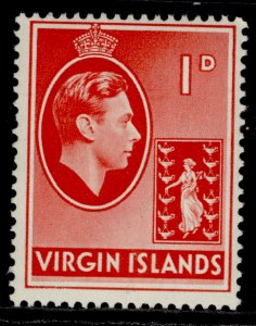 BRITISH VIRGIN ISLANDS GVI SG111, 1d scarlet, NH MINT. CHALKY
