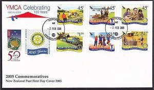 NEW ZEALAND 2005 YMCA 150 Years - FDC.......................................9315