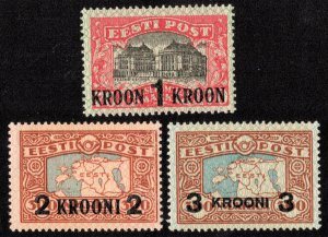 Estonia Scott 105-107 Mint never hinged.