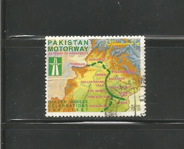 #883 Pakistan Motorway, 50th Anniv.
