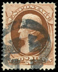 momen: US Stamps #146 Used ANCHOR Fancy Cancel