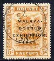 Brunei 1922 Malaya-Borneo Exhibition 5c fine used with \'...