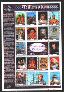 Palau. 2000. ml 1587-1603. Millennium, Napoleon, Marx, Bolivar. MNH.
