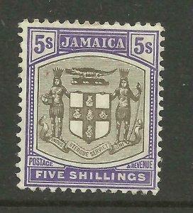 JAMAICA 1905/11 Sg 45, 5/- Grey-Violet, Lightly Mounted Mint. {B9-69}