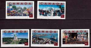 Canada 2004-  Tourist Attractions  ,MNH set # 2019-2023