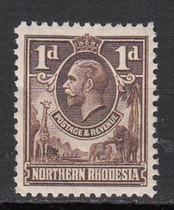 Northern Rhodesia - 1925 KGV 1p Sc# 2 - MH (7912)
