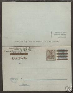 Germany H&G 86 mint 1902 Double Card, reply attached VF