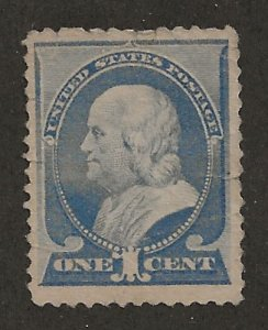 Sc 212 Regular Issue of the American Bank Note Co. Ben Franklin.